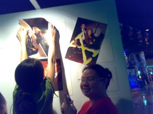 Pinoy X-Philes setting up the photo exhibit