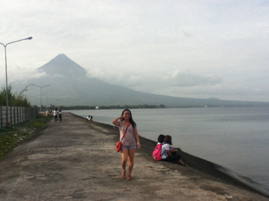 Weena with Mt. Mayon view