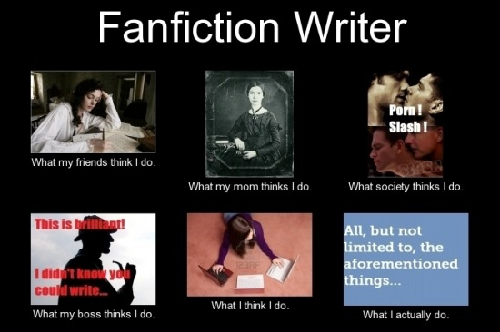 Fanfiction-Writer-What-my-friends-think-I-do