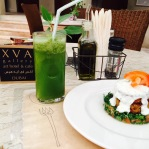mint & lemon juice with quinoia & zucchini kofta at XVA