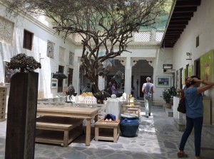 The courtyard at Majlis Gallery