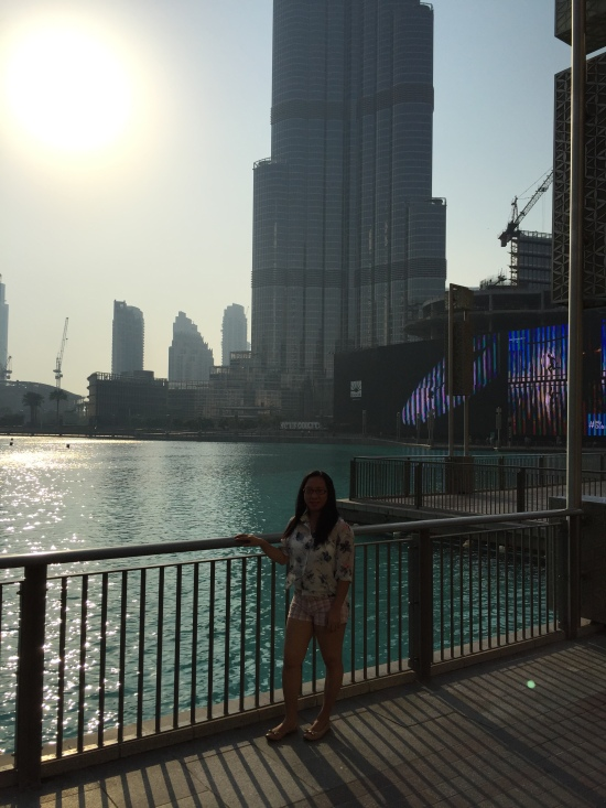 Weena at Dubai Mall overlooking Burj Khalifa