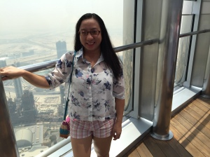 Weena in Burj Khalifa observation deck