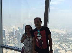 Weena & Uncle Sanny inside Burj Khalifa