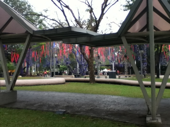 A peek at Ayala Triangle Park in Makati