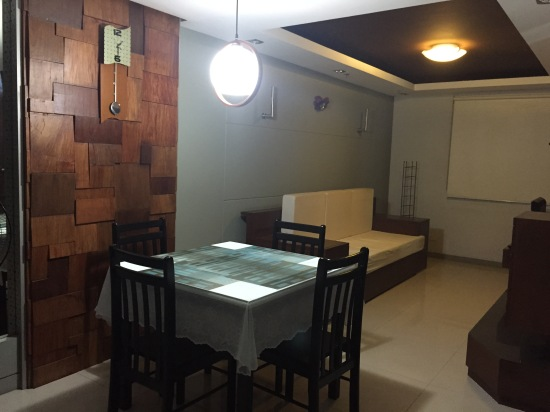 View of my dining area and living room