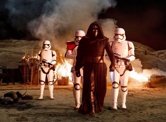 Kylo Ren and Stormtroopers