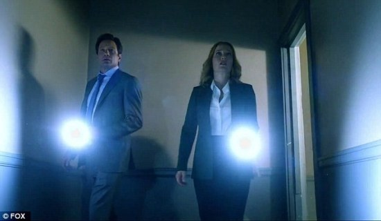 Mulder & Scully with flashlights_HomeAgain